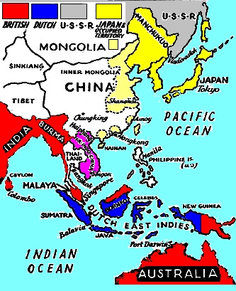 Japan Foreign Policy - Japan map 1930